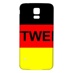 Rottweiler Name On Flag Samsung Galaxy S5 Back Case (White)