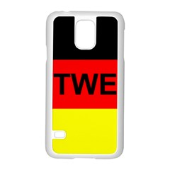 Rottweiler Name On Flag Samsung Galaxy S5 Case (White)
