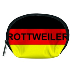 Rottweiler Name On Flag Accessory Pouches (Medium)
