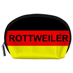 Rottweiler Name On Flag Accessory Pouches (Large)
