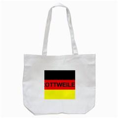Rottweiler Name On Flag Tote Bag (White)