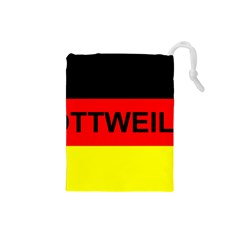 Rottweiler Name On Flag Drawstring Pouches (Small)