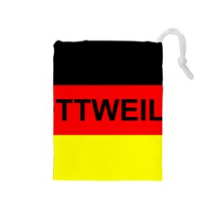 Rottweiler Name On Flag Drawstring Pouches (Medium)