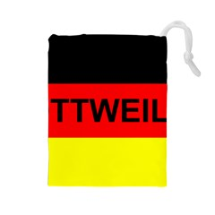 Rottweiler Name On Flag Drawstring Pouches (Large)