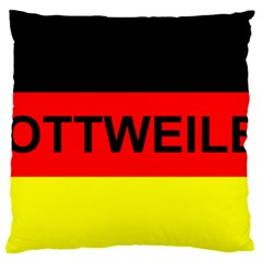 Rottweiler Name On Flag Large Flano Cushion Case (One Side)
