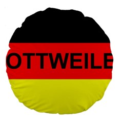 Rottweiler Name On Flag Large 18  Premium Flano Round Cushions