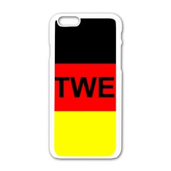 Rottweiler Name On Flag Apple iPhone 6/6S White Enamel Case