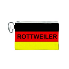 Rottweiler Name On Flag Canvas Cosmetic Bag (S)