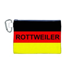 Rottweiler Name On Flag Canvas Cosmetic Bag (M)