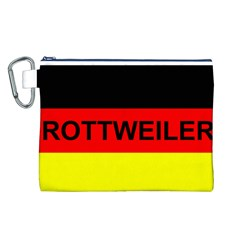 Rottweiler Name On Flag Canvas Cosmetic Bag (L)