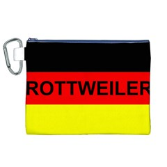 Rottweiler Name On Flag Canvas Cosmetic Bag (XL)
