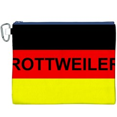 Rottweiler Name On Flag Canvas Cosmetic Bag (XXXL)