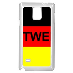 Rottweiler Name On Flag Samsung Galaxy Note 4 Case (White)