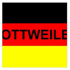 Rottweiler Name On Flag Large Satin Scarf (Square)