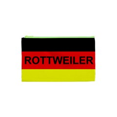 Rottweiler Name On Flag Cosmetic Bag (XS)