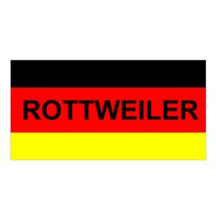 Rottweiler Name On Flag Satin Shawl