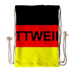 Rottweiler Name On Flag Drawstring Bag (Large)