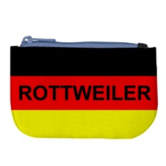 Rottweiler Name On Flag Large Coin Purse