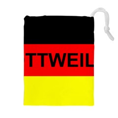 Rottweiler Name On Flag Drawstring Pouches (Extra Large)