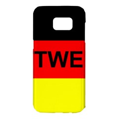 Rottweiler Name On Flag Samsung Galaxy S7 Edge Hardshell Case
