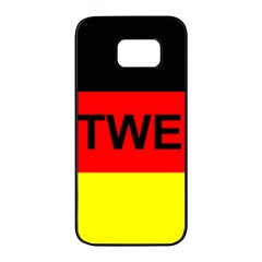 Rottweiler Name On Flag Samsung Galaxy S7 edge Black Seamless Case