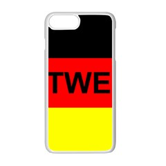 Rottweiler Name On Flag Apple iPhone 7 Plus White Seamless Case