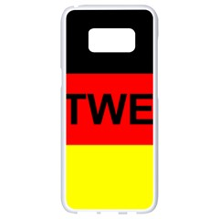 Rottweiler Name On Flag Samsung Galaxy S8 White Seamless Case