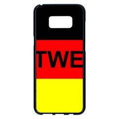 Rottweiler Name On Flag Samsung Galaxy S8 Plus Black Seamless Case