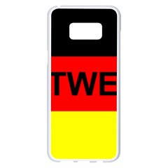 Rottweiler Name On Flag Samsung Galaxy S8 Plus White Seamless Case
