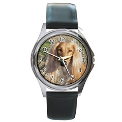 Saluki Round Metal Watch
