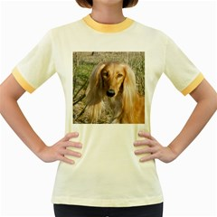 Saluki Women s Fitted Ringer T-Shirts