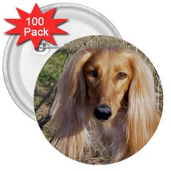 Saluki 3  Buttons (100 pack)