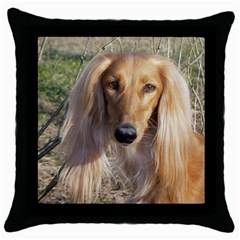 Saluki Throw Pillow Case (Black)