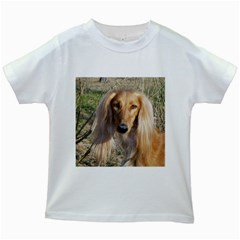 Saluki Kids White T-Shirts