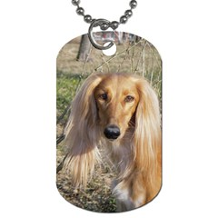 Saluki Dog Tag (One Side)