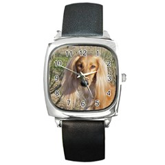 Saluki Square Metal Watch