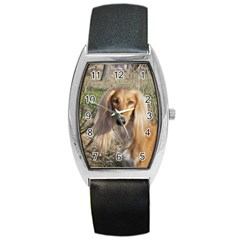 Saluki Barrel Style Metal Watch
