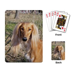 Saluki Playing Card
