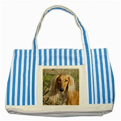 Saluki Striped Blue Tote Bag