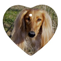 Saluki Heart Ornament (Two Sides)