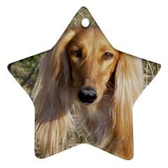 Saluki Star Ornament (Two Sides)