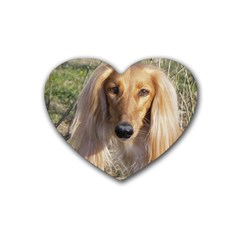 Saluki Rubber Coaster (Heart)