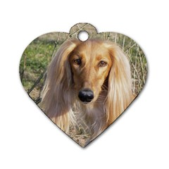 Saluki Dog Tag Heart (One Side)