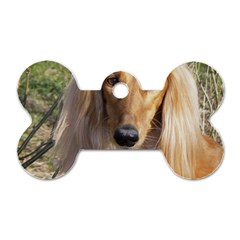 Saluki Dog Tag Bone (Two Sides)