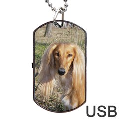 Saluki Dog Tag USB Flash (One Side)
