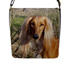 Saluki Flap Messenger Bag (L)