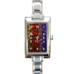 Multi Color Magical Unicorn Rainbow Shimmering Mother of Pearl Rectangle Italian Charm Watch