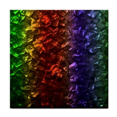 Multi Color Magical Unicorn Rainbow Shimmering Mother of Pearl Tile Coasters