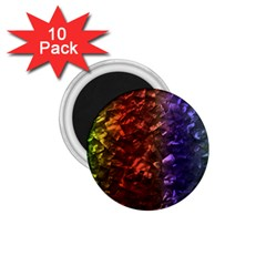 Multi Color Magical Unicorn Rainbow Shimmering Mother of Pearl 1.75  Magnets (10 pack)