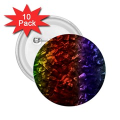 Multi Color Magical Unicorn Rainbow Shimmering Mother of Pearl 2.25  Buttons (10 pack)